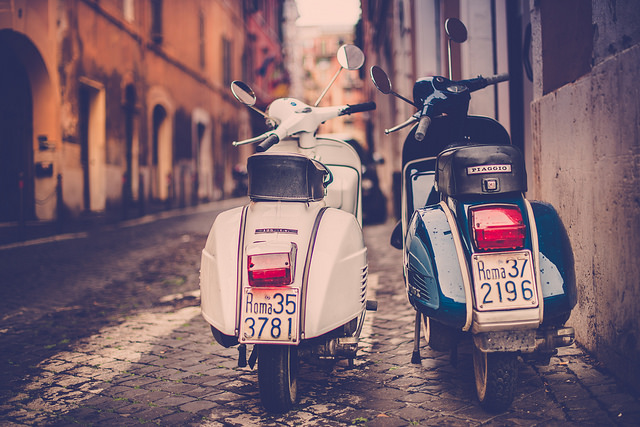 The perfect way to travel through Rome! For me, well I was just walking past :)